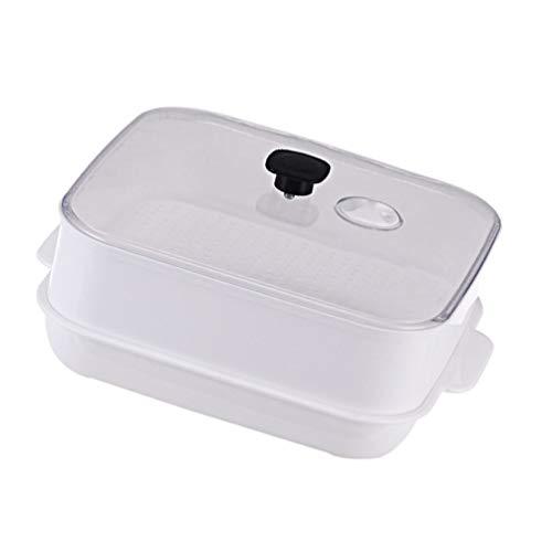 SOLUSTRE Vaporizador de Microondas Vaporizador de Pescado Y Verduras Olla de Microondas Sartén para Cocina Casera