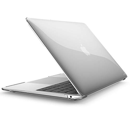 i-Blason Halo Series Designed for MacBook Air 13' Case 2019 2018 Release A1932, Smooth Matte Frosted Hard Shell Cover for MacBook Air 13 Inch with Retina Display fits Touch Id (Clear)
