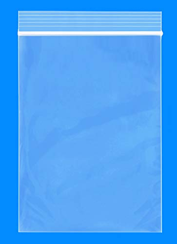 """Spartan Industrial - 4"""" X 6"""" (1000 Count) 2 Mil Clear Reclosable Zip Plastic Poly Bags with Resealable Lock Seal Zipper"""
