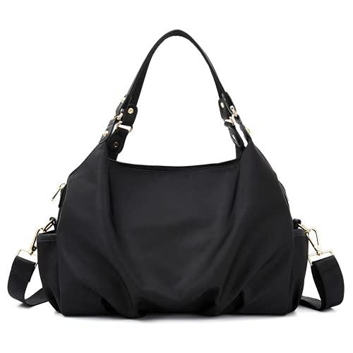 MINGPAI Bolso de hombro de moda simple de primavera bolso de mensajero portátil de gran capacidad con múltiples bolsillos para mujer (4)