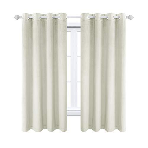 MAXIJIN Velvet Blackout Curtains Wärmeisolierte Fenstervorhänge & Vorhänge Soft Room Darkinging Tüllenvorhänge...