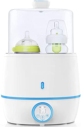 Bottle Warmer, Baby Bottle Warmer, Portable Bottle Warmer for Breastmilk Formula, Double Bottle Food Heater, Bottle Sterilizer with Timer&LCD Display, Accurate Temperature Control, BPA-Free
