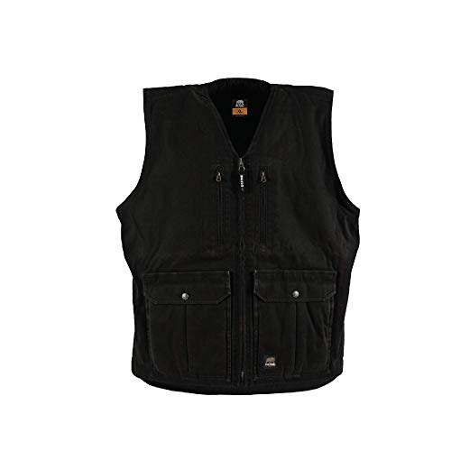 Berne Men's Echo One Zero Concealed Carry Vest, Large Regular, Black
