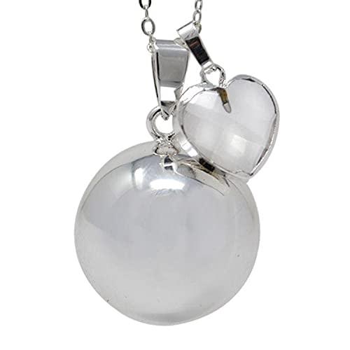 Sevira Kids - Colgante de bola para embarazo, diseño de corazón de cristal de roca