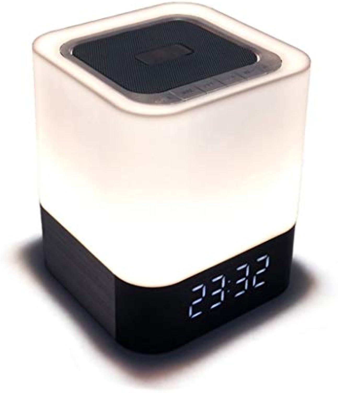 HDG Kreatives LED-Stereo-Nachtlicht, Blautooth-Verbindung, Wiederaufladbare Schlafzimmer-Schlafsaal-Bettlampe, Schrank, Bücherregal, Kosmetikspiegel (schwarz)