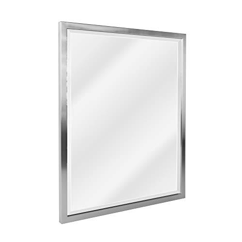 Head West 8020 Wall Mirror, 24 x 30, Nickel