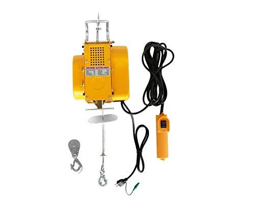 三方良し 吊下げ式電動ホイスト ワイヤー12M 小型電動ウインチ 吊り下げタイプ 電動ウインチ ホイスト レバーブロック レバーホイスト 家庭用 100V対応 50Hz/60Hz 電動ウインチ (250kg)