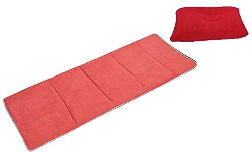 RTYEW Colchoneta plegable para descanso, almohadilla para dormir suave con almohada, alfombrilla para siesta para interior y exterior, dormitorio, hogar, oficina, guardería, camping, 190 x 68 cm