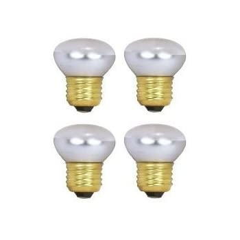Satco S3601 120v Stubby 25 Watt R14 Light Bulb Clear Incandescent Bulbs Amazon Com