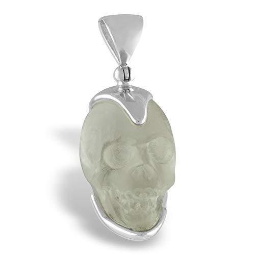 Starborn Crystal Skull Pendants in Sterling Silver (Quartz Crystal)