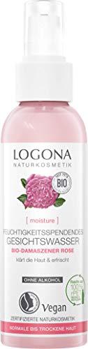 LOGONA Naturkosmetik Erfrischendes Gesichtswasser, Vegan, 125 ml