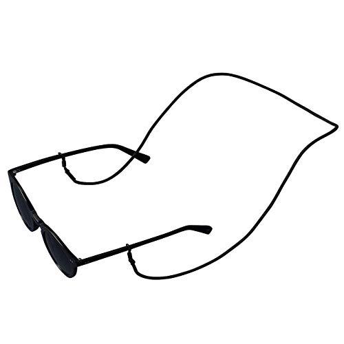KNOK Brillenband Sunglass Strap - Brillenbänder Brillenkette Universal Accessoire für Sonnenbrillen und Lesebrillen - Brillenhalter Brillenschnur (Black)
