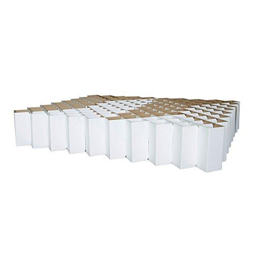 ROOM IN A BOX Bett 2.0 L/Weiß: Klappbett aus Wellpappe 160 180 200 x 200 cm und Zwischengrößen. Auch als Gästebett. Lattenrost Nicht nötig.