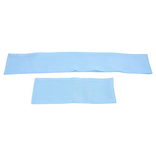 2 stks 4 zijdige baby ademende mesh wieg voering, baby bed wieg bumper beschermer opvulling rond bescherming Blauw