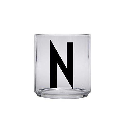 Design Letters Persönliches Tritanglas für Kinder A-Z Buchstabe: N. || BPA Frei. Unzerbrechlich