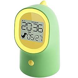 4. HAPTIME Kids Dinosaur Digital Alarm Clock and Night Light