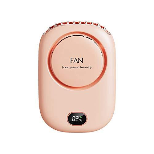 Ventilador de bolsillo portátil USB silencioso Mini Mini ventilador de mano un cuello colgante rosa (dq-203)