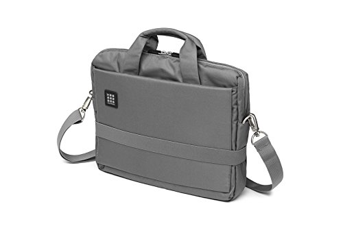 Moleskine ID Collection Borsa a Tracolla Orizzontale Device Bag per Pc, Tablet, Notebook, Laptop e iPad fino a 13'', Dimensioni 35 x 9.5 x 27 cm, Colore Grigio Ardesia