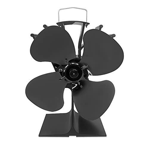 Froadp Kaminventilator Ohne Strom Kamin Ventilator mit 4 Blättern Ofenventilator Lüfter Wärmebetriebener Ofen Ventilator für Holzofen, Kamin, Holzbrenner