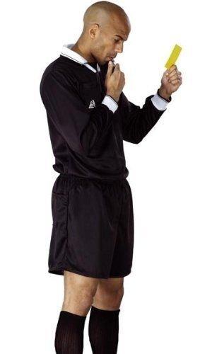Schiedsrichter-Uniform, Trikot, kurze Hose, für Fußball-, Rugby-, Hockey-Schiedsrichter, Herren Kinder, schwarz, xl