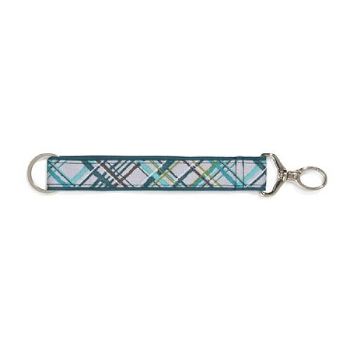 Thirty One Hang It Up Key Fob in Sea Plaid - 4215