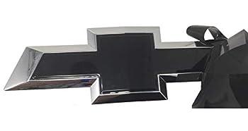 "Qbc Craft Chevy Bowtie Emblem Vinyl Overlay  3 Pack  Gloss Black Metallic 3M Cut-Your-Own Car Wrap Kit DIY GM Logo Easy to Install air Release Film 12"" x 4"" Sheets  x3"