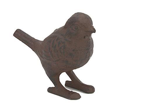 ecoSoul Figurine de Jardin Oiseau Fonte antikrostfarben laqué H/B/T : 9/13/6 cm