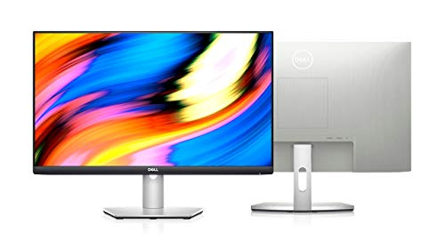2021 Newest Dell_S Series 27-Inch IPS LED Monitor; FHD (1920x1080) up to 75Hz; 16:9; 4ms Response time; HDMI; AMD FreeSync, VESA - Silver, Bundle with TC HDMI Cable