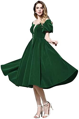 Rjer Dark Green Homecoming Dresses,Dark Green Homecoming Dresses for Teens,Dark Green Homecoming Dress Size US16