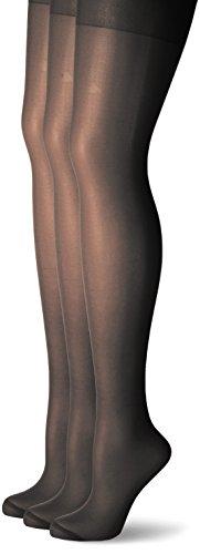 Nur Die Damen Supersitz Color Komfortgröße Strumpfhose, 3er Pack, Schwarz (schwarz 94), 50-52