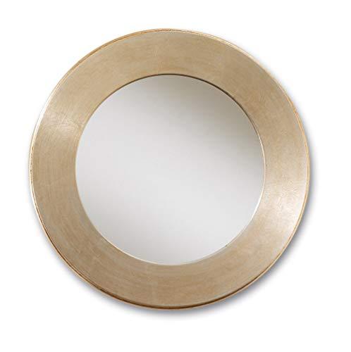 MO.WA Espejo de pared redondo diámetro 60 cm hoja plata champán Made in Italy