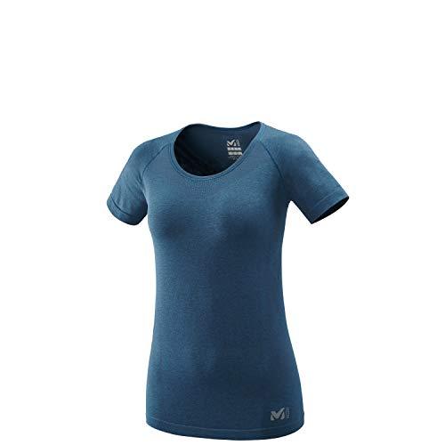 Millet - Lkt Seamless Light TS W - T-shirt Sport Femme - Respirant - Randonnée, Running, Trekking, Lifestyle - Bleu