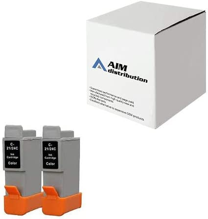 AIM Compatible Replacement for Canon BCI-24 Color Inkjet (2/PK) (6882A1010AA) - Generic