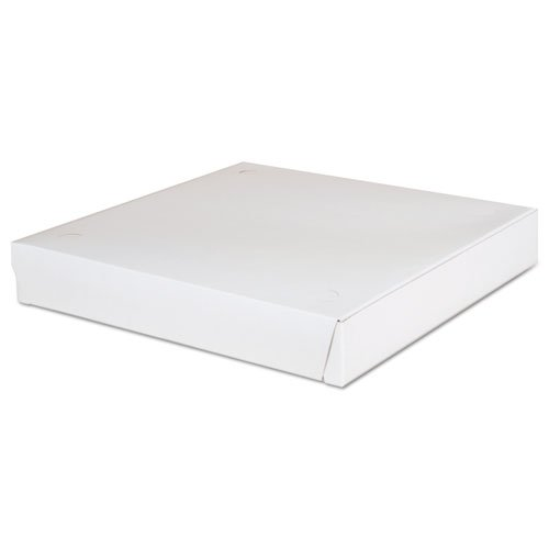SCT Lock-Corner Pizza Boxes, 12w x 12d x 1-7/8h, White - Includes 100 per case.