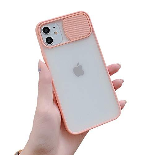 VUTR Funda para iPhone 12 12 Pro antigolpes Funda de Silicona Protectora Negro Satinado [Protector cámaras Deslizante] para iPhone 12 12 Pro de Apple (2020) - Rosa
