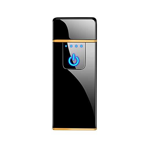 Oplaadbare aansteker, creatieve winddichte vingerafdruk usb elektronische aansteker, persoonlijk cadeau voor vriendje