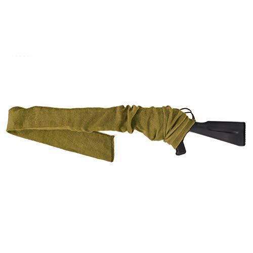 GUGULUZA Gewehrsocke Silikon Öl behandelt Knit Fabric Aufbewahrung Gewehr Socke 137,2 cm (Khaki)