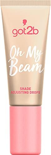 got2b Shade Adjusting Drops Oh My Beam - Gotas para base de maquillaje que dan un efecto iluminador para un cutis radiante, 8 ml