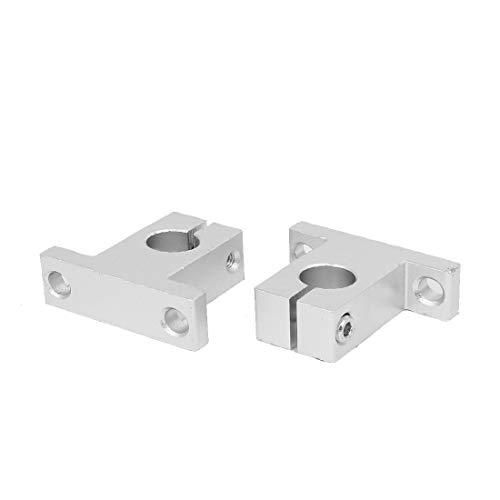 New Lon0167 SK12 12mm Featured Shaft Inner Diameter Reliable Efficacy Rail Linear Motion Guide Support Silver Tone 2pcs(id:5b5 c2 a4 66d)