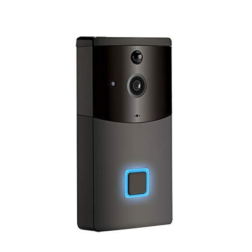 SMARSECUR® TY-L9 Timbre de Puerta Videoportero WiFi Timbre de Video de Seguridad Exterior Compatible con Alexa/Google echo 1080P HD Detección de Movimiento Audio bidireccional Visión Nocturna