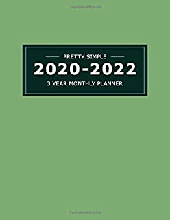 2020~2022  3 YEAR MONTHLY PLANNER: 36 Months Yearly Planner & Monthly Calendar View |Very Simple Design Planner Schedule | Organizer | Great Useful ... Size (Simple Design Planners 2020-2022)