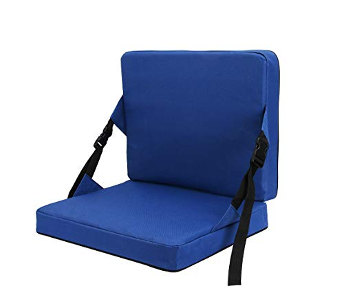 KIMI HOUSE Indoor & Outdoor Folding Chair Cushion, Beach Chair Cushion, Stadium Chair Cushion for Sports Events, Outing, Travelling,Hiking, Fishing(Navy Blue)