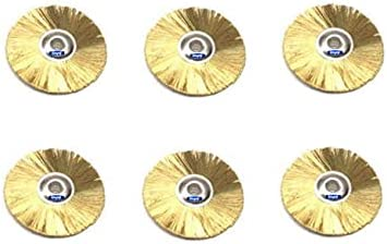 Low price Unmounted Mini Brass Brushes Wheels Rotary Dia Genuine Free Shipping Straight Abras 1