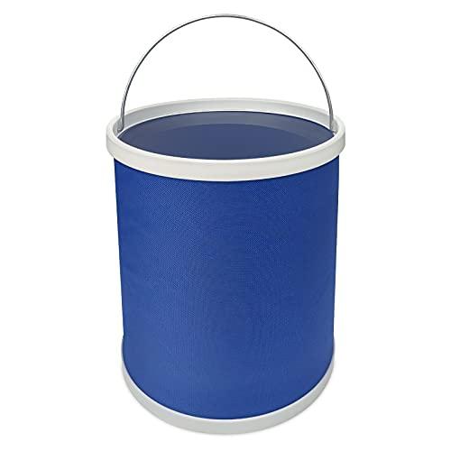Cubo plegable de 11 l, cubo plegable, accesorio para caravana, accesorio de limpieza, para camping, deportes al aire libre, uso doméstico (azul)
