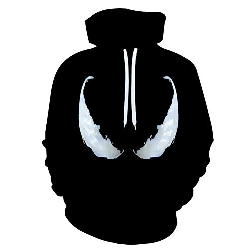 Fang Unisex 3D Hoodie Couple Hood Hood HoodHood Sweatshirt Sports Baseball Wear Black LooseHood Sweatshirt Plus Taille