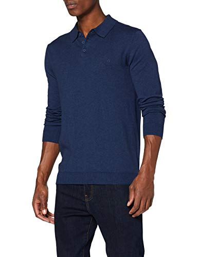Wrangler Knit Suéter Polo, Patriot Blue, M para Hombre