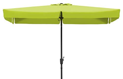 Schneider Sonnenschirm New York, apfelgrün, 270x150 cm rechteckig, Gestell Aluminium/Stahl, Bespannung Polyester, 4.6 kg