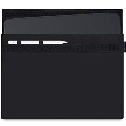 Adore June Classic Tasche für Apple iPad Pro 12.9 2018 12,9 Zoll mit Apple Pencil Halterung, Schwarz