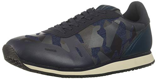 A|X Armani Exchange Herren Low Top Lace Up Sneakers Turnschuh, Camo Navy, 45 EU
