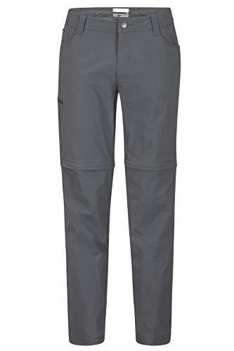 Marmot Herren Trekkinghose Zip Off, Wanderhose, Lange Hose Mit Abnehmbaren Beinen Transcend Convertible Pant, Slate Grey, 40, 42140